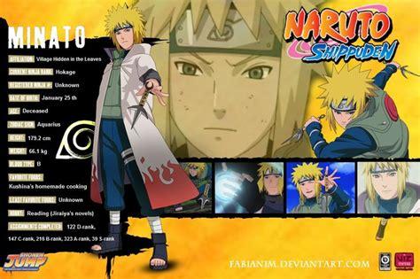boruto zodiac namikaze minato naruto character info pinterest