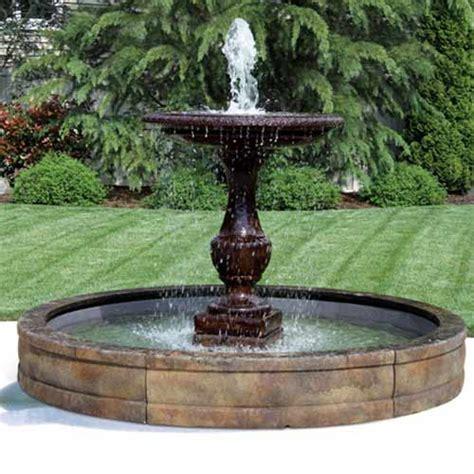 fiberglass fountain pool basin system