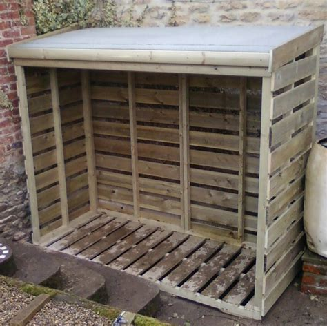 Log Wood Shed by Log Stores Squirrel Sheds Projects