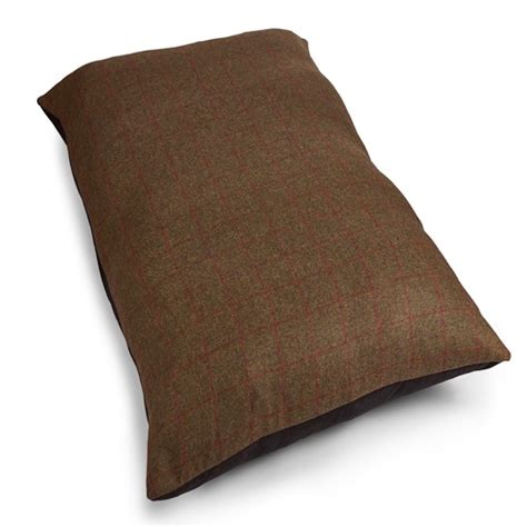 tweed wool mattress bed olive