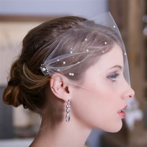 Handmade Birdcage Veil - free shipping tulle bandeau birdcage veil bird cage veil