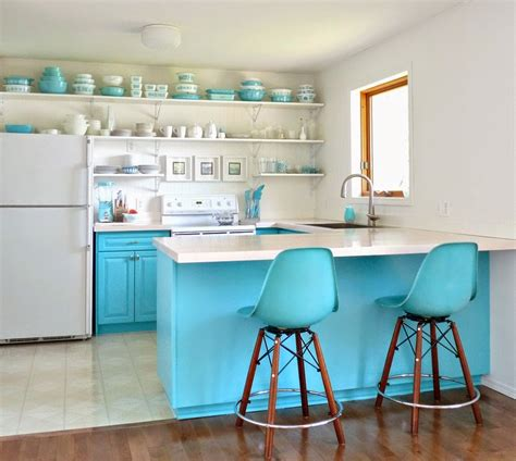 turquoise kitchen a budget friendly aqua kitchen makeover dans le lakehouse