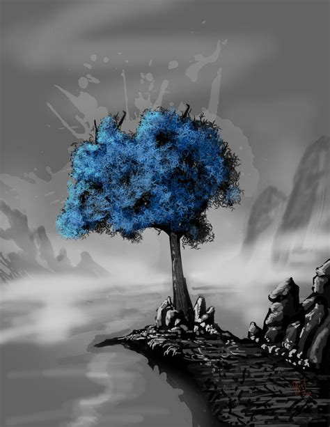 Trijee Blue blue tree by scorpionmonkey on deviantart