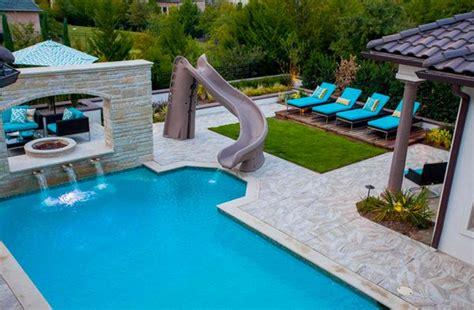 garden swimming pool custom dream homes stony wall 15 gorgeous swimming pool slides home design lover