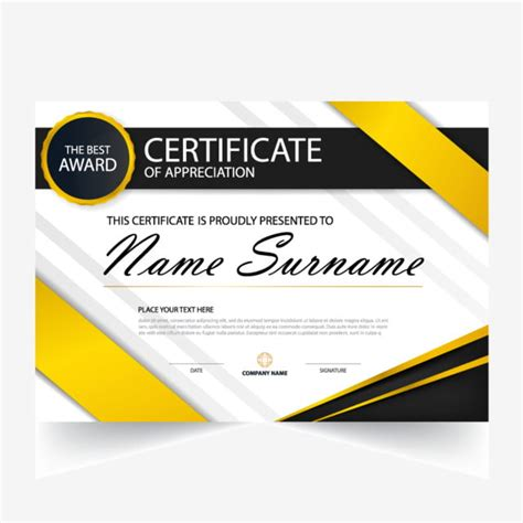 elegance horizontal certificate  vector illustration