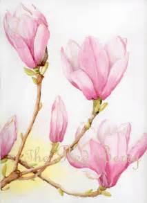 flower watercolor magnolias floral art watercolor painting