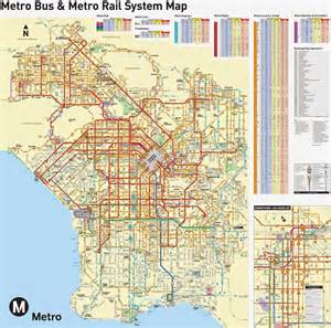 Los Angeles Transit Map by Los Angeles Transportation Maps Free Printable Maps