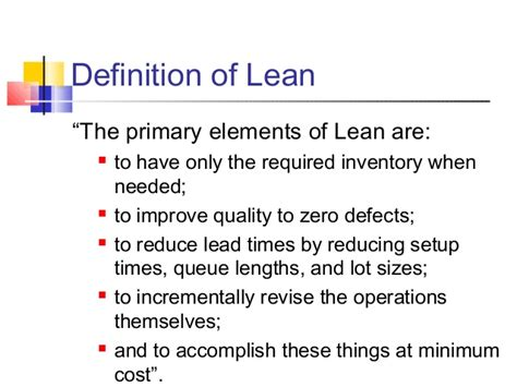 define systemize 15 lean mfg toyota production system 1