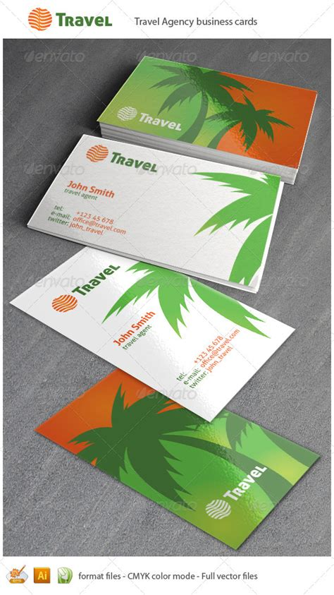 graphicriver travel agency business card design template visiting card travel design eps file 187 dondrup