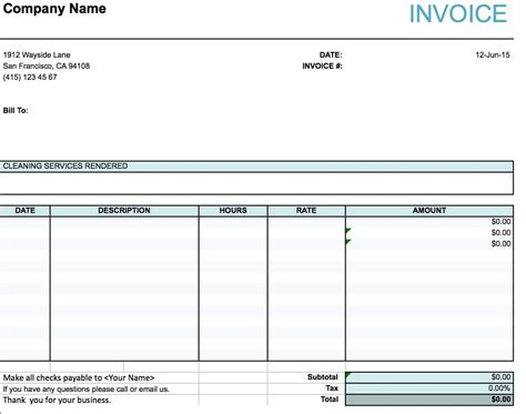 invoice template for services provided sample consulting invoice
