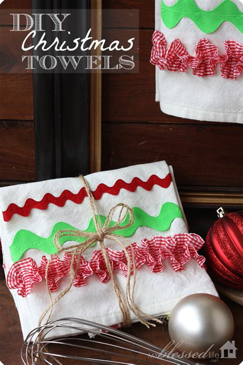 christmas gift ideas for kitchen diy kitchen towels