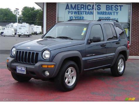 2002 Jeep Liberty Sport 2002 Steel Blue Pearlcoat Jeep Liberty Sport 4x4 31391793