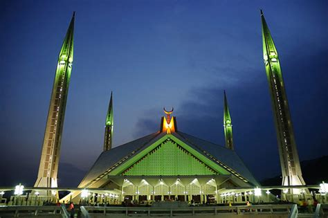 masjid design in pakistan faisal mosque islamabad pakistan entertainmentmesh