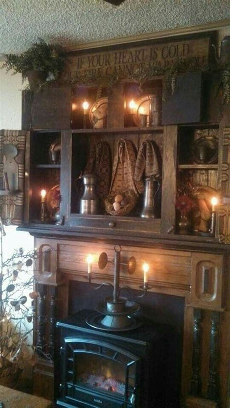 beautiful fireplace country primitive rooms pinterest 99 best images about for the home on pinterest wooden