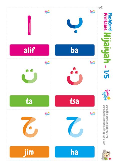 Printable Hijaiyah | download gratis flashcard printable hijaiyah