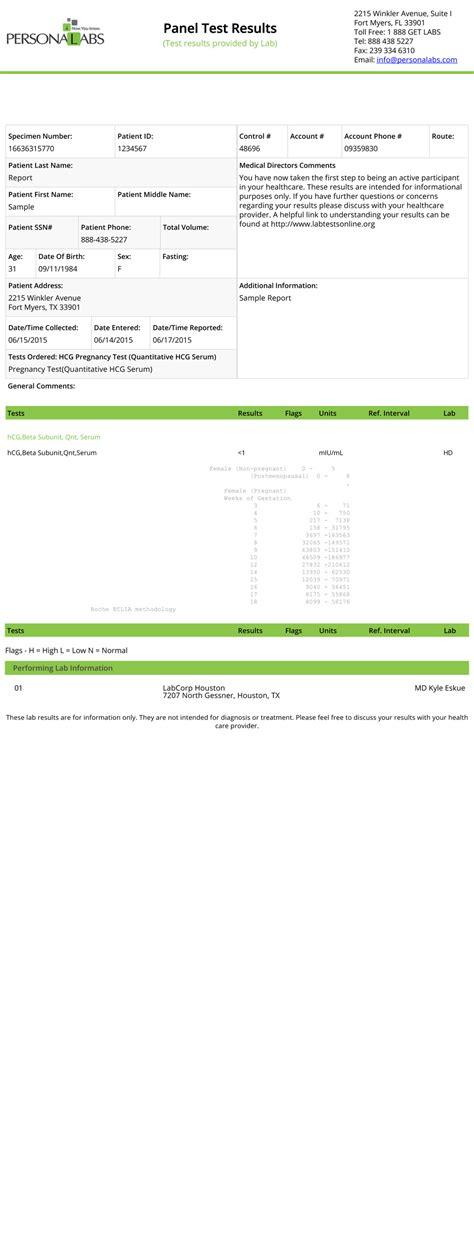 pregnancy test report sle hcg pregnancy test pregnancy blood test