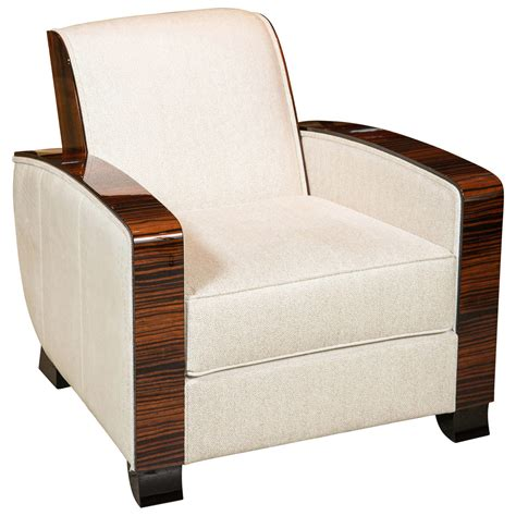 deco style club chairs deco style club chair in macassar at 1stdibs