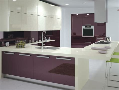 purple high glossy kitchen design ipc408 high gloss