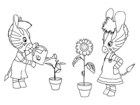 dibujos infantiles zou zou para colorear pintar e imprimir