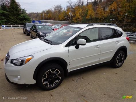 white subaru 2013 2013 satin white pearl subaru crosstrek 2 0 limited