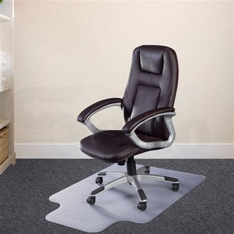 computer chair rug carpet floor office computer work chair mat pvc protector plastic 1200x900mm ebay
