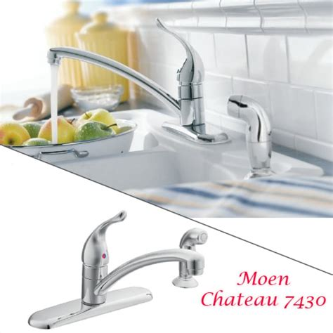 moen one handle pullout kitchen faucet moen chateau 7430 chrome one handle low arc pullout
