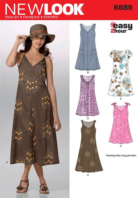 simple gown pattern womens easy 2 hour pullover pattern 6889 new look