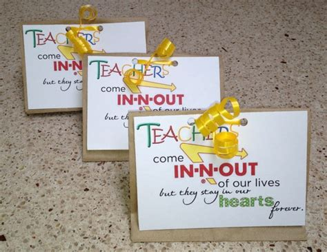 In N Out Gift Cards - teacher appreciation day 1 simply sweet