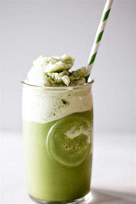 Green Tea Latte Drink Powder iced matcha latte 187 blender happy