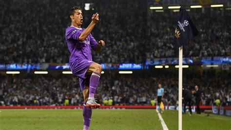 ronaldo goal against juventus ronaldo becomes only player to score in three chions league finals as