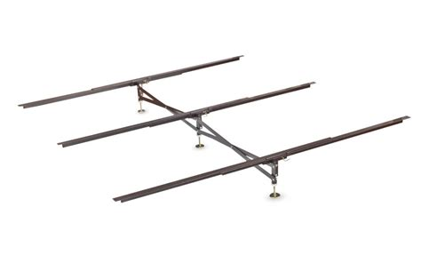 bed frame center support steel bed frame center support 3 rails 3 adjustable legs
