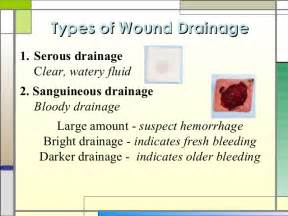 sanguineous color wound healing and care presentation
