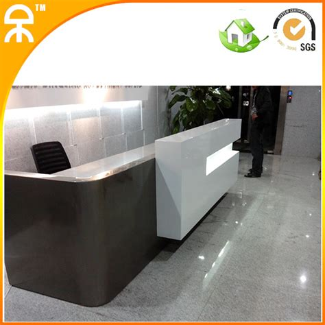 Luxury Reception Desk 3meter 9 8 Ft Luxury Commercial Exhibition Reception Desk With Marble Top Qt3000 In Wood