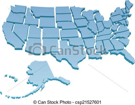 usa map you can draw on vector clipart of us map separate united states map of