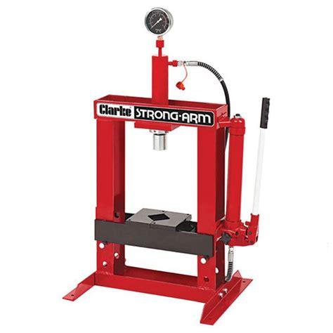 parts of hydraulic bench clarke csa10bb 10 tonne hydraulic bench press