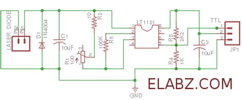 laser diode driver ttl schematic laser diode driver based on lt1121 voltage regulator schematic and pcb