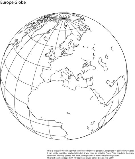 printable world map for globe blank map of the globe