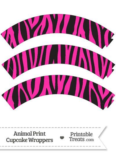 printable zebra cupcake wrappers free hot pink zebra print cupcake wrappers from