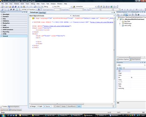 membuat website menggunakan visual studio membuat website sederhana dengan net framework