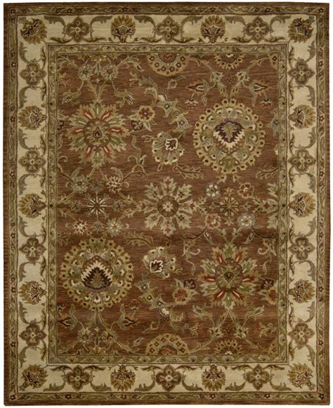 Jaipur Area Rug by Nourison Jaipur Ja13 Rust Traditional Area Rug