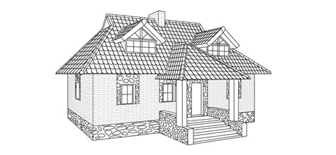 how to draw a house how to draw a house step by step