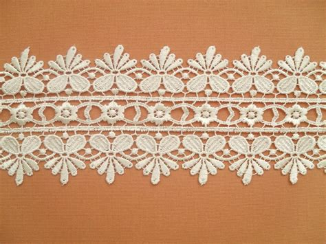 Lace Trim Lace ivory guipure venise lace trim satin soft 3 quot craft