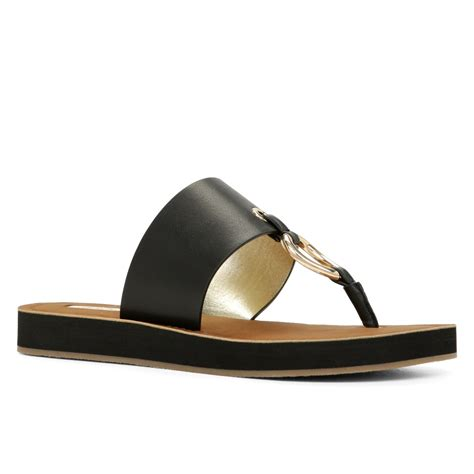 aldo sandals aldo aferracien u toe flat sandal in black lyst
