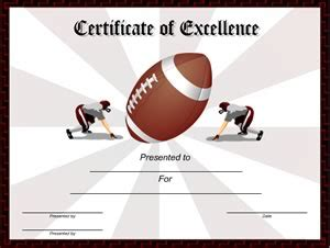 football certificate templates free 5 best images of free printable football award templates