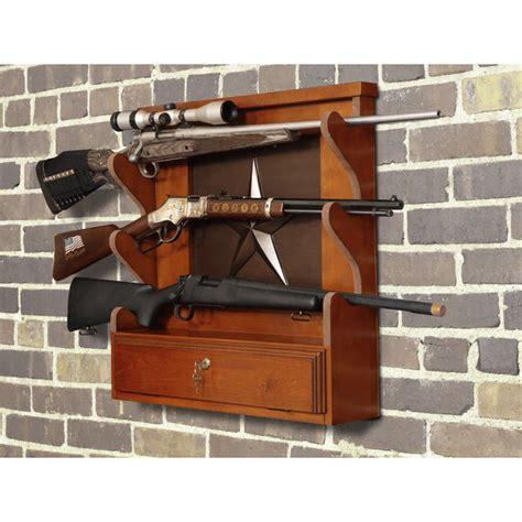 Locking Rifle Rack by Wood Gun Racks Wall Mount Rifle Locking Shotgun Display Firearms Storage Rack Ebay