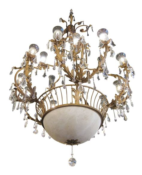 1970s Wrought Iron And Crystal Cage Chandelier With Wrought Iron Chandeliers With Shades