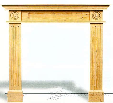 2619 fireplace surround plans woodarchivist
