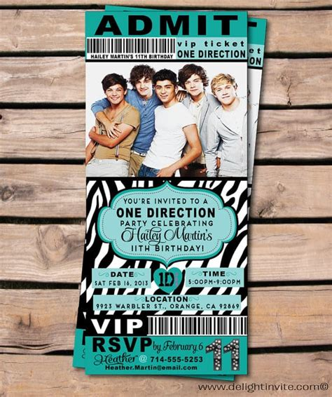 One Direction Birthday Card Template one direction invitation template orderecigsjuice info