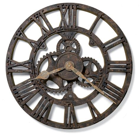wall clocks howard miller allentown clock industrial wall clocks