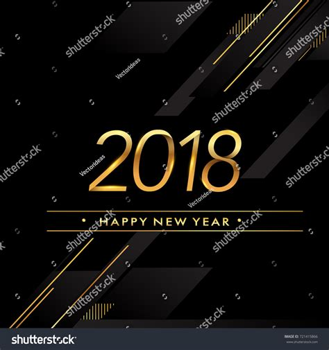 happy new year element vector design happy new year 2018 text design stock vector 721415866